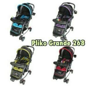 stroller pliko 628 grande - kereta bayi hadap depan belakang
