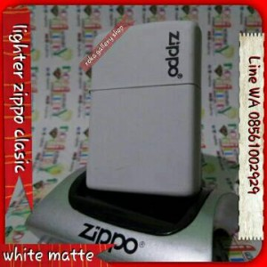 harga # korek Zippo white matte grade original kw super Tokopedia.com