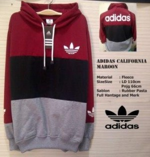 Jaket Adidas Original Black red