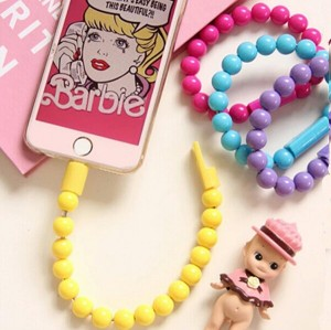 Kabel Data Gelang Candy Color/ Charger Micro USB iphone / Android
