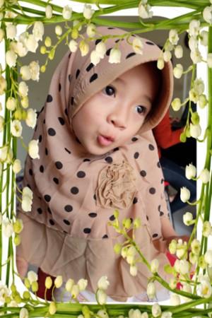 Jilbab / Hijab / kerudung anak / bayi / baby / balita Syria Fatin