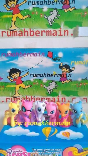 harga Miniatur Kuda My Little Pony (set 6pcs - 9cm) - Figure - Pajangan Tokopedia.com