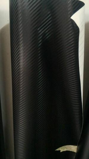 Sticker karbon hitam lebar 152cm