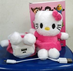 Powerbank Boneka 20000mah Hello Kitty 2 cell