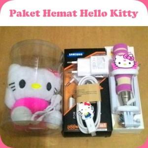 Paket hemat Hello kitty Charger Tongsis Powerbank boneka