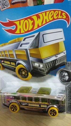 Hot Wheels HIGH SCHOOL BUS Chrome Diecast Miniatur Mobil Bis