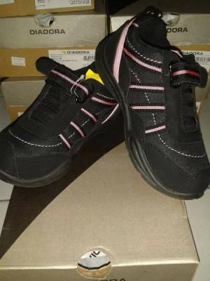 sepatu diadora kids original black 5523 sekolah