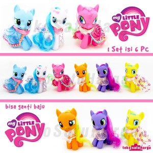 harga My Little Pony 10 cm Kostum Pajangan Miniatur Action Figure Kuda Pony Tokopedia.com