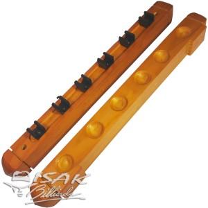 Wall Cue Rack Import - Rak Stick Dinding Kayu - Hold 6 PC Billiard Cue