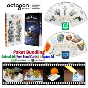 harga Kartu Animal 4d+ (Bonus Food Cards) & Space 4d+ Paket Bundling Tokopedia.com