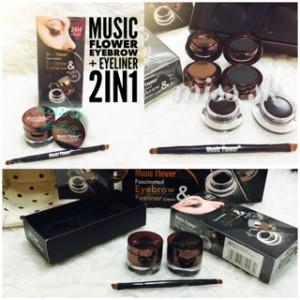 [ UKURAN BESAR ] Big Music Flower Eyebrow & Eyeliner cream 2in1 ori
