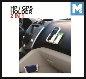 Car Handphone GPS Holder 2 in 1 Adjustable Pegangan Hp Aksesoris Mobil
