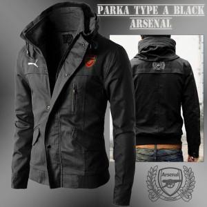 JAKET HOODIE PARKA ARSENAL BLACK