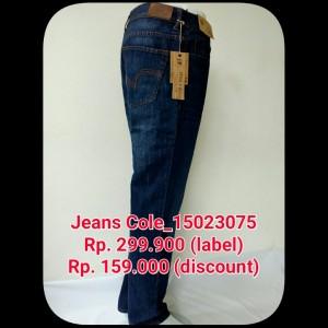 Celana jeans merk COLE,celana jeans,celana,celana pria,celana murah