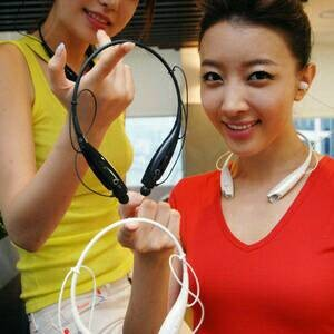 Headset bluetooth sporty model kalung merk LG