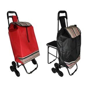 harga Lynx Tas Belanja Roda Troli Trolley Bag dengan Kursi Lipat Tokopedia.com