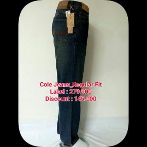 Celana jeans merk COLE,celana jeans,celana,celana pria,celana branded