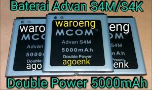 BATERAI M-COM ADVAN S4M / S4K DOUBLE POWER 5000mAh