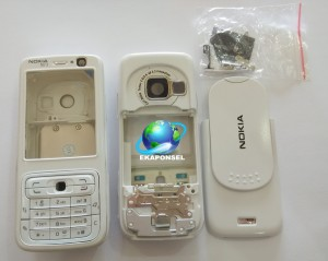 harga NOKIA N73 CASING  FULLSET+TULANGAN FULL WHITE Tokopedia.com