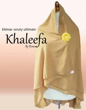 Khimar Cerruty Khaleefa Non-pet Coklat