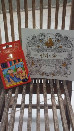 Coloring Book For Adults Enchanted Forest Size Kecil Pensil Warna