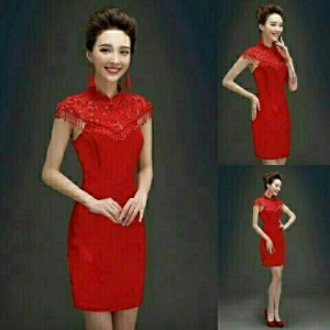 harga DRESS SHANGHAI RED, Tokopedia.com