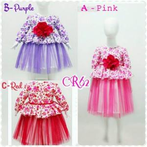 Baju Anak - Dress Pesta Tutu Flower Korea Girl / Gaun Anak