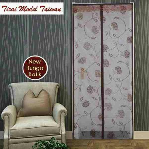 harga Tirai Magnet Anti Nyamuk (jahit/taiwan) Coklat New Batik Bunga Tokopedia.com