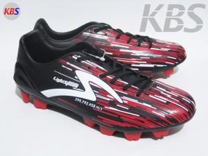 Sepatu Bola Specs Accelerator Light Speed FG (Black/Emperor Red/White)