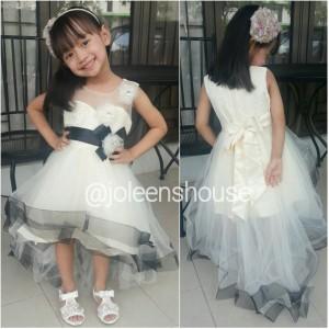 harga Black Accent Off White Kids Party Dress / Baju Pesta Anak Perempuan Tokopedia.com