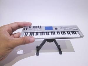 Miniatur Keyboard Yamaha Silver Custom