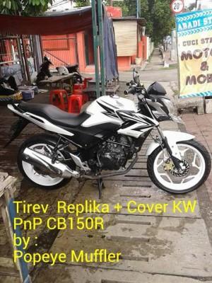 Knalpot Tiger Revo + Cover PnP Honda CB150R (Replika Handmade)