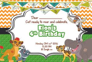 Jual kartu undangan ulang tahun invitation card lion guard 01 kartu undangan ulang tahun invitation card lion guard 01 stopboris Image collections
