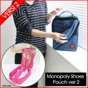 NEW Tas Sandal Sepatu / Monopoly Shoes Pouch Travel Versi 2