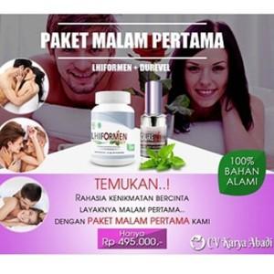 Paket Obat Herbal Vitalitas Pria   LHIFORMEN dan DUREVEL Spray
