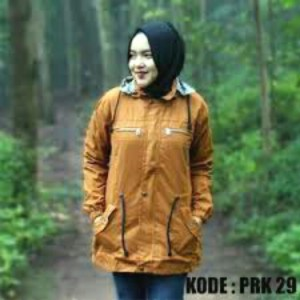 jaket parka ladies baby canvas kuning tua