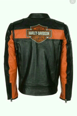 jaket kulit asli garut model harley davidson untuk pria
