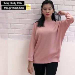 boxy sweater dusty pink