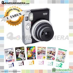 Fujifilm Instax Mini 90 Neo Classic (Black) + Instax Paper