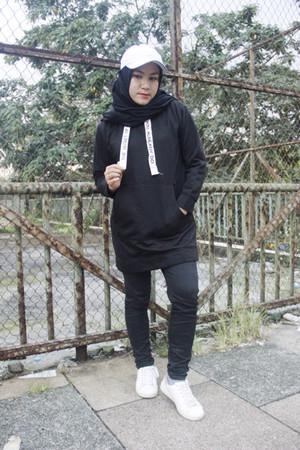black long sweater