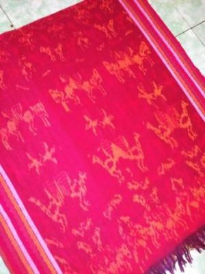 Jual kain batik tenun ikat Jepara motif ayam 120x240 cm  Toko