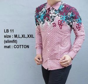 Kemeja Batik Pria Slim Fit Modern LB11