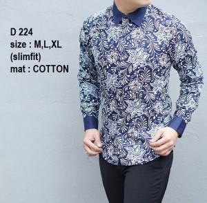 Baju Batik Pria Slim Fit Modern D224