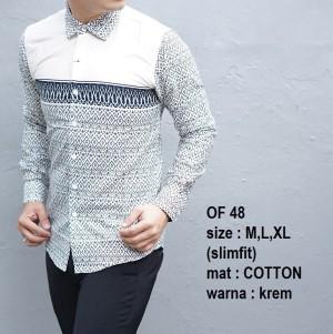 Baju Batik Pria Slim Fit Modern Lengan Panjang OF48