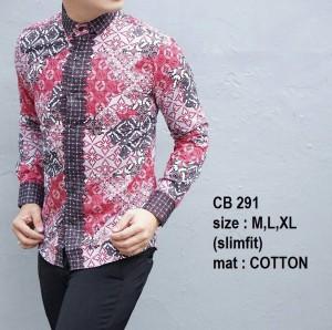 Baju Batik Pria Slim Fit Modern Lengan Panjang CB291