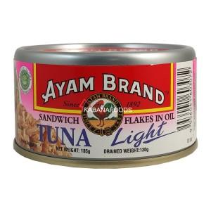 Tuna Sandwich Kalengan Ayam Brand Tuna Flakes in Light Oil 185g