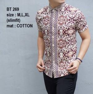 Kemeja Batik Pria Slim Fit Modern BT269