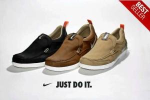 Sepatu Pria Formal Casual Santai Nike Boston Slop
