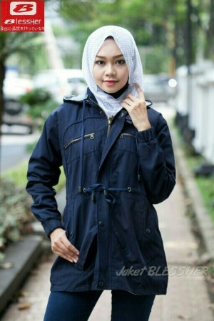 jaket parka ladies baby canvas navy
