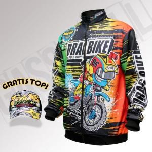Jaket Motor Full Print Gaspoll / Jaket Racing / Jaket Balap